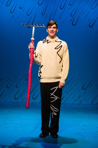 Luke Monday as the Boy in Dr. Seuss's THE CAT IN THE HAT at Salt Lake Acting Company