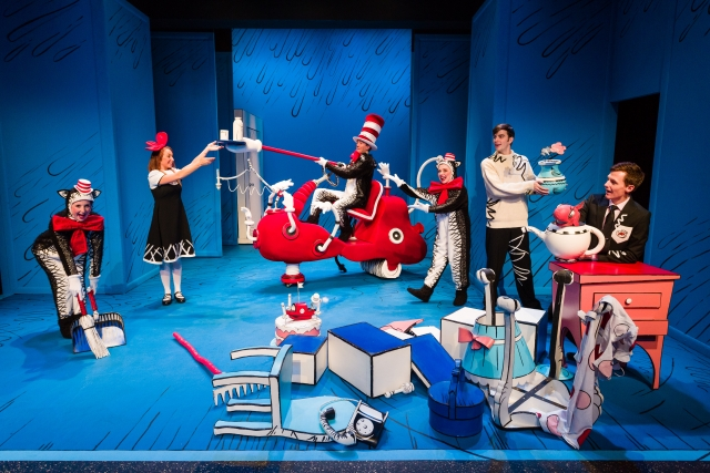 The cleaning machine cleans up the mess in Dr. Seuss's THE CAT IN THE HAT