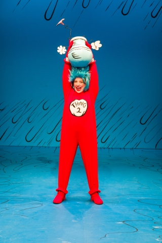 Connor Norton as Thing 2 in Dr. Seuss's THE CAT IN THE HAT at Salt Lake Acting Company
