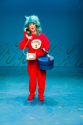 Jenessa Bowen as Thing 1 in Dr. Seuss's THE CAT IN THE HAT at Salt Lake Acting Company