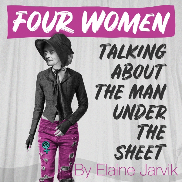 Four Women Talking About The Man Under The Sheet